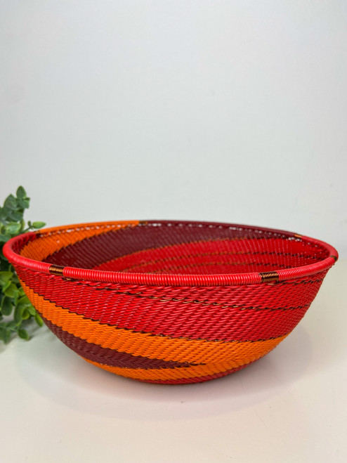 Large Shallow Bowl - African Ember