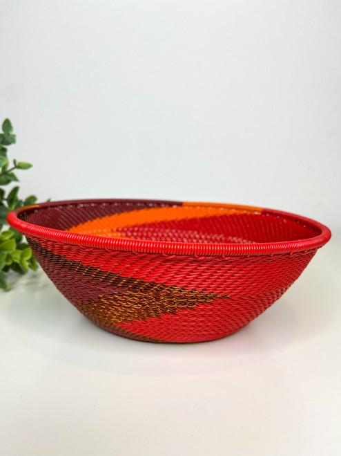 Telephone Wire  Medium Bowl - African Ember