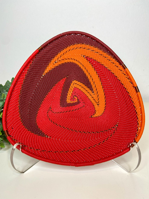 Telephone wire Triangle  Plate - African Ember