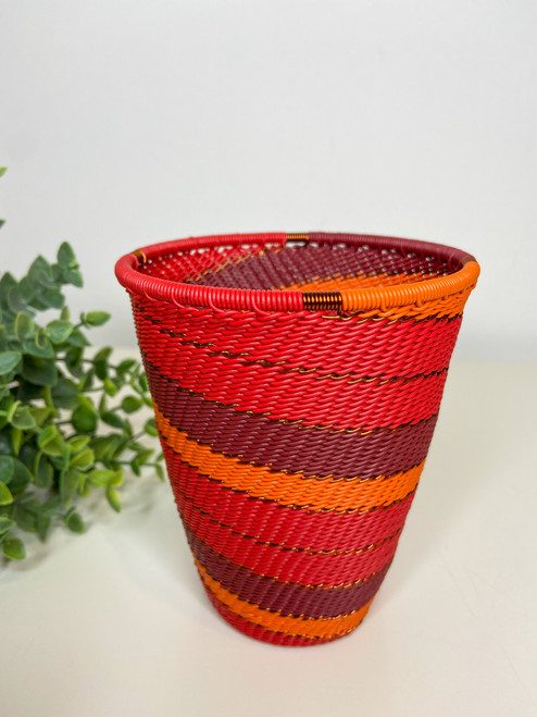 Telephone Wire Cup- African Ember