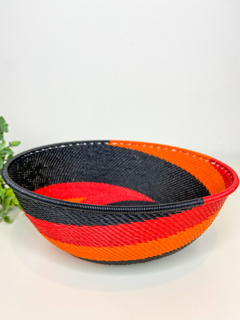 Large Shallow Bowl - African Silhouette