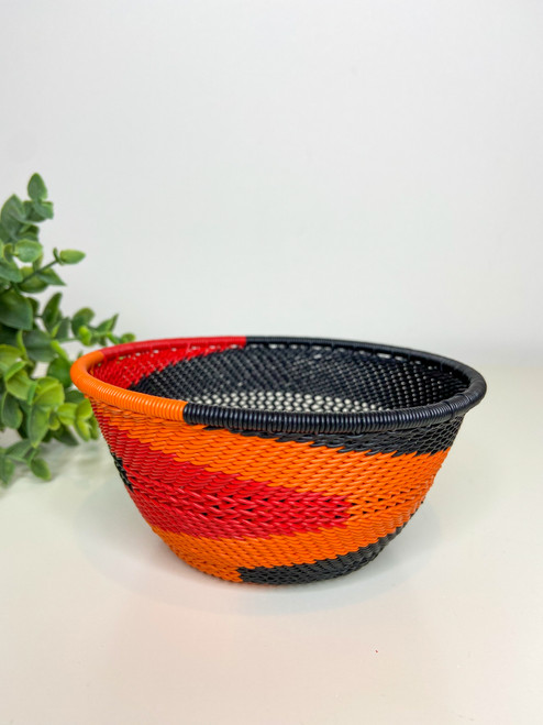 Telephone Small Deep Bowl - African Silhouette