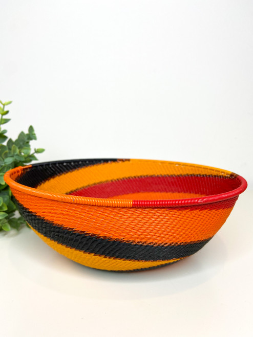 Large Shallow Bowl - African Fire