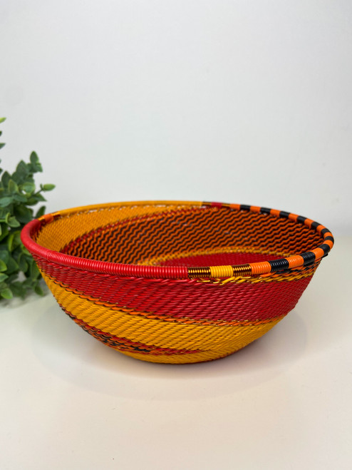 Telephone Wire  Medium Bowl - African Fire