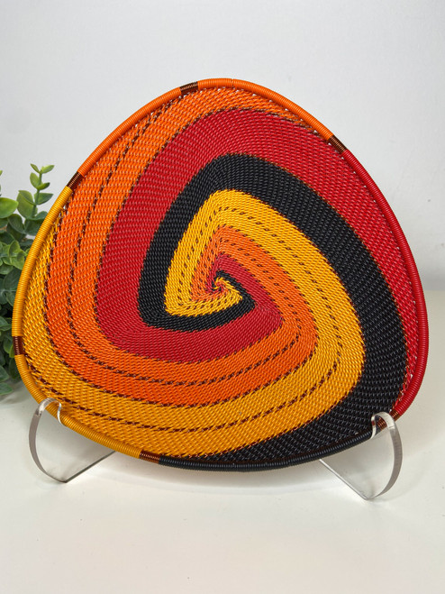 Telephone wire Triangle  Plate - African Fire