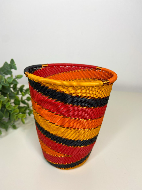 Telephone Wire Cup- African Fire