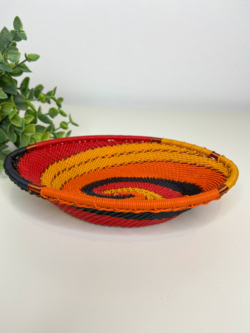 Telephone Wire Trinket Dish - African Fire