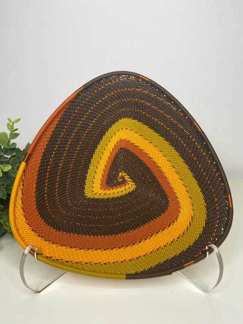 Telephone wire Triangle  Plate - African Earth