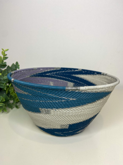 Telephone wire Large Deep Bowl - African Winter