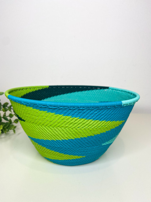 Telephone wire Large Deep Bowl - African Spring