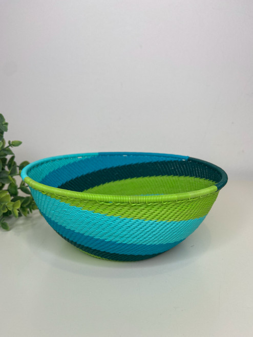 Telephone Wire  Medium Bowl - African Spring