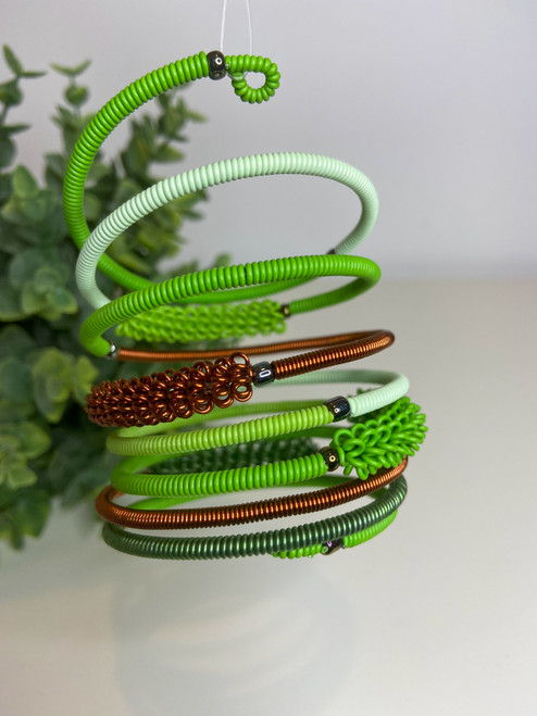 Telephone Wire blended Bracelet   - Forest