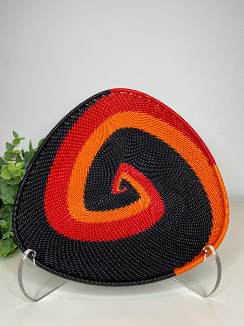Telephone wire Triangle  Plate - African Silhouette