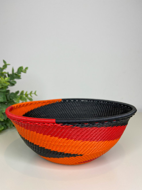Telephone Wire  Medium Bowl - African Silhouette