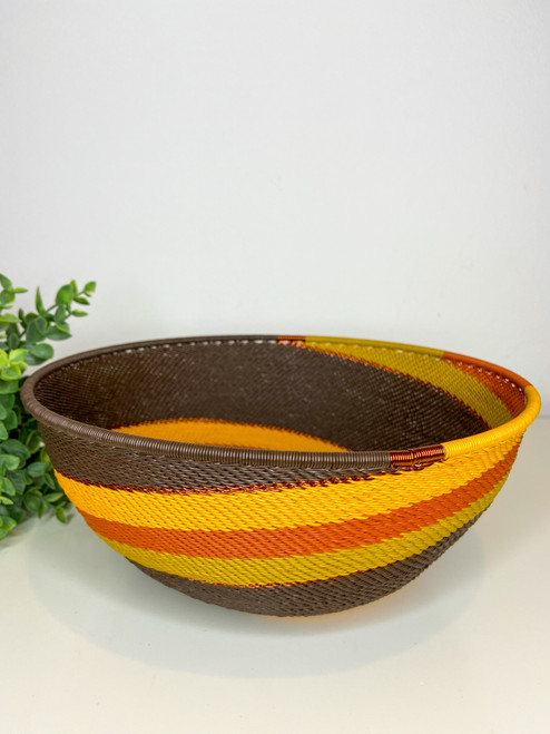 Telephone wire Global Bowl - African Earth