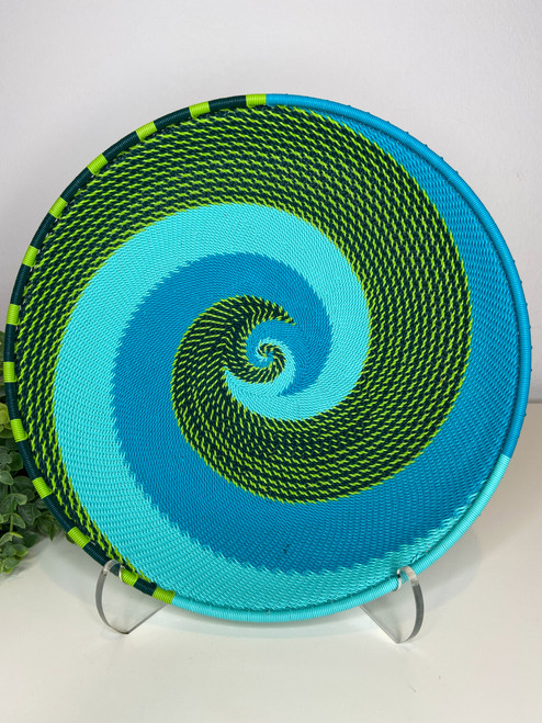 Telephone Wire Round Tray - African Spring