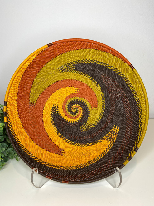 Telephone Wire Round Tray - African Earth