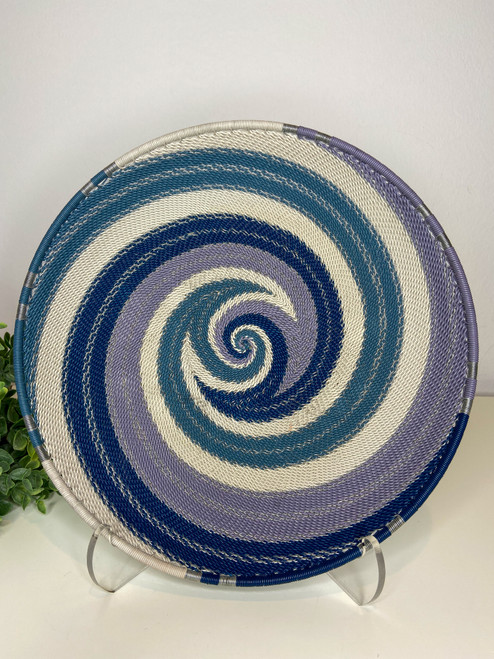 Telephone Wire Round Tray - African Winter