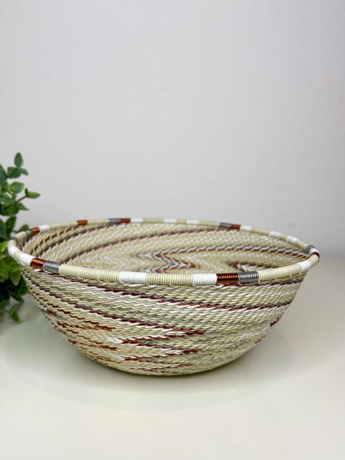Telephone Wire  Medium Bowl - African Ivory