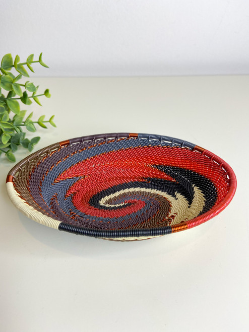 Telephone Wire Trinket Dish - Red Pepper