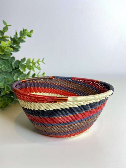 Telephone Small Deep Bowl - Red Pepper