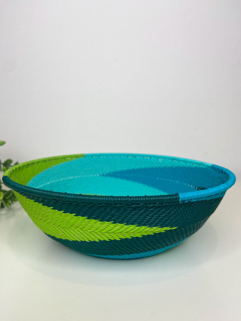 Telephone wire Large Shallow Bowl  - African Spring
