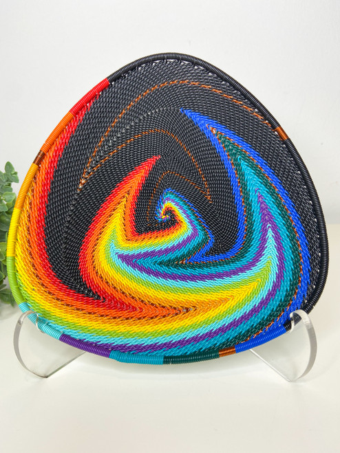 Telephone wire Triangle Plate - African Rainbow