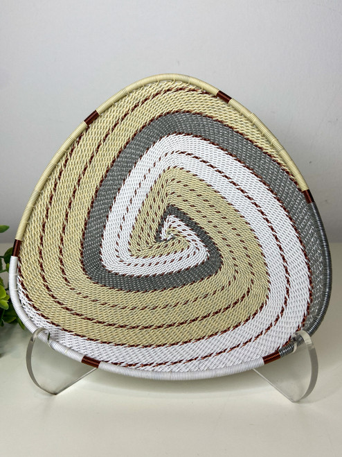 Telephone wire Triangle Plate - African Ivory