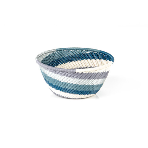 Round Shaped Extra Small Telephone Wire Bowl - The Blues Lines