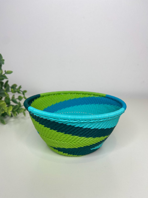 Telephone wire Small Deep Bowl - African Spring