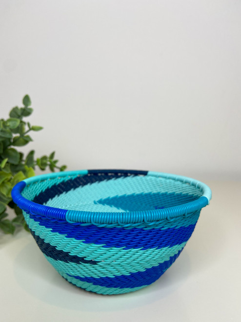 Telephone wire Small Deep Bowl - African ocean