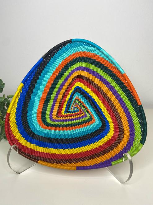 Telephone wire Triangle Plate - Full Rainbow