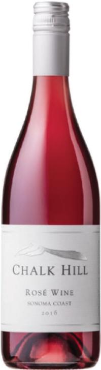 image of chalk hill rose wine bottle