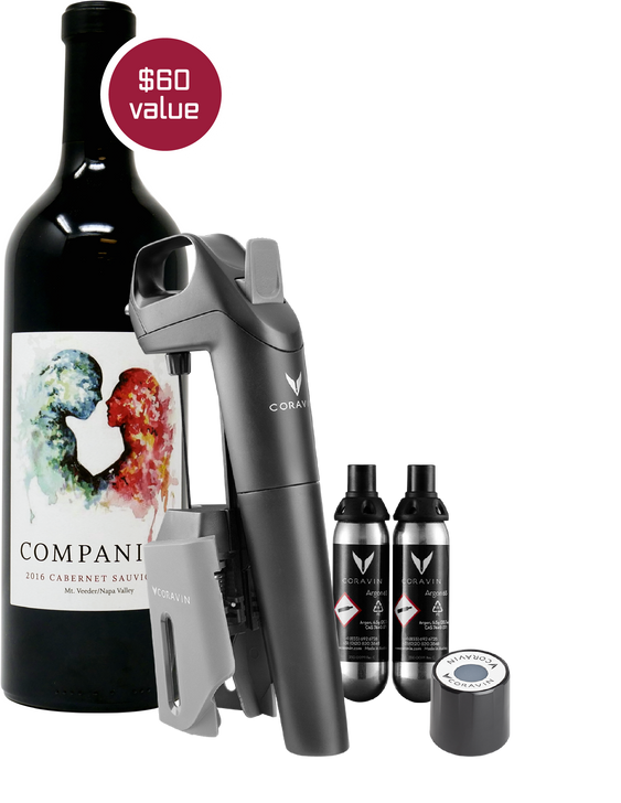 image of buy a coravin get a companion gift package
