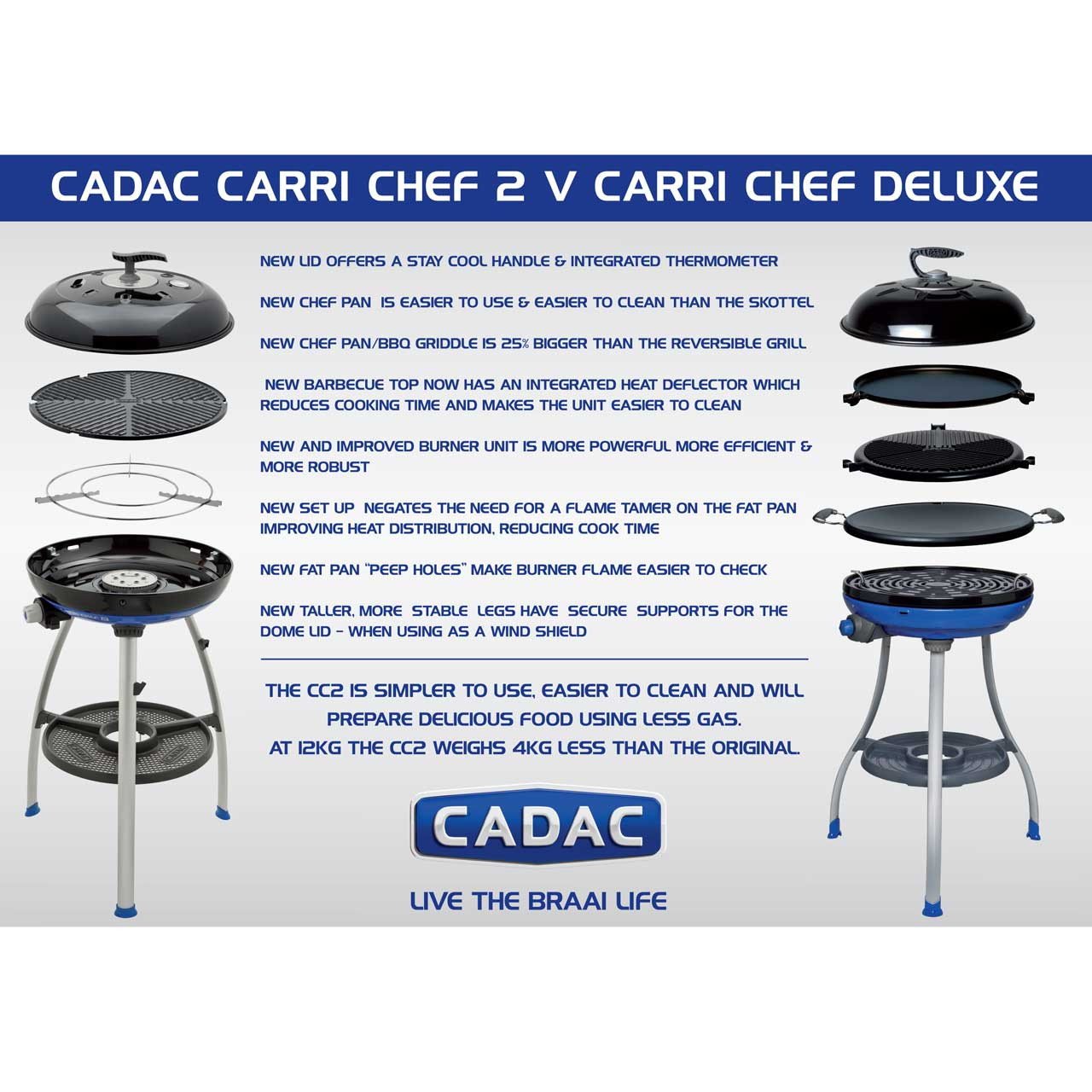 Cadac Carri Chef Deluxe.Cadac Carri Chef 2 Bbq Chef Pan Combo From Camperite Leisure Order Now