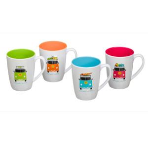 Camper Smiles Mugs x 4