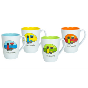 Love Caravanning Mugs x 4