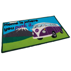 home is where you park it (camper van) mat