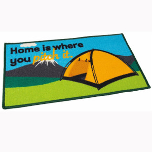 Home is where you pitch it (tent) mat