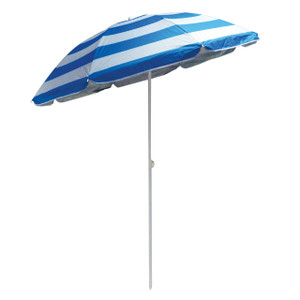 Redwood 1.7m Blue Striped Tilting Parasol