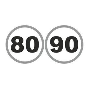 W4 French Speed Limit Stickers