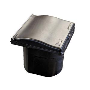 W4 Flush Mains Inlet Black