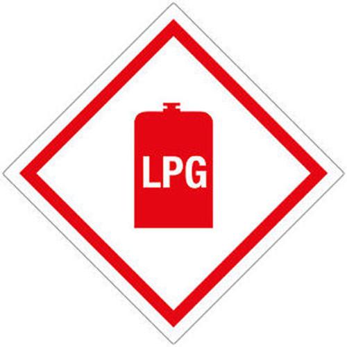 LPG Diamond Sticker