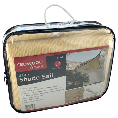 Redwood 3.6m Shade Sail