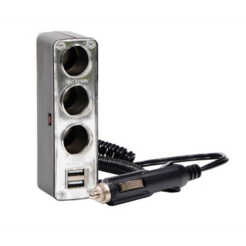 Streetwize 12v Triple Socket With Twin USB