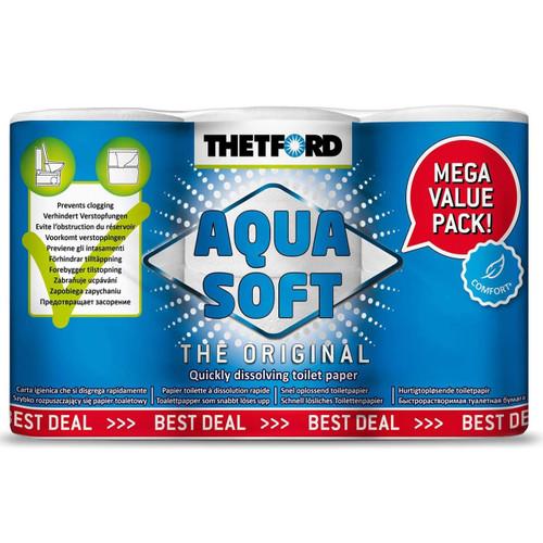 Thetford Aqua Soft Toilet Roll 6pk