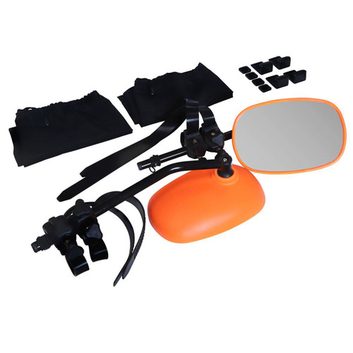 Pair Neon Orange Rock Steady Towing Mirrors