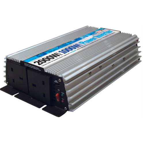 1000 Watt / 2000 Watt Peak Inverter - Twin USB