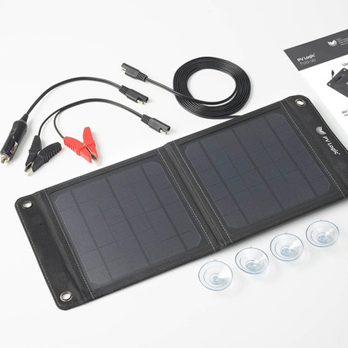 PV Logic 8W Fold Up Solar Battery Maintainer