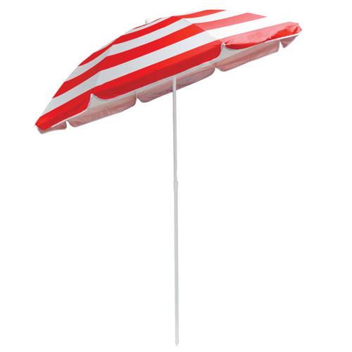 Redwood 1.7m Red Striped Tilting Parasol